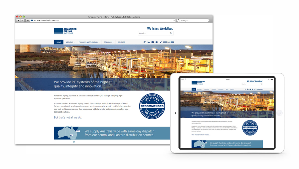 Advanced Piping Systems Website