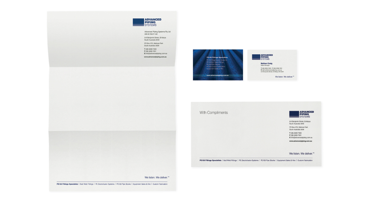 Advanced Piping Systems Stationery