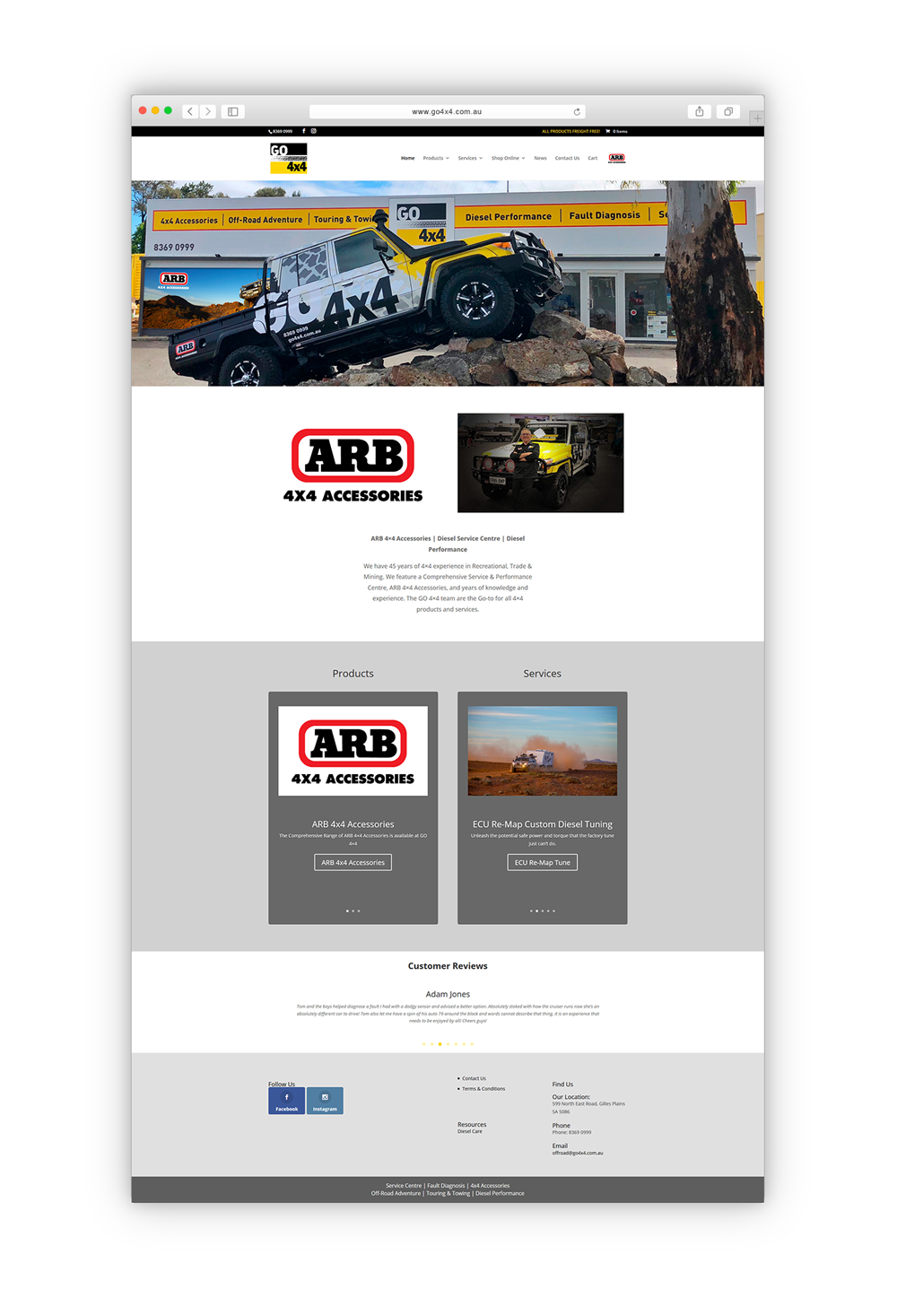 GO4x4 Website