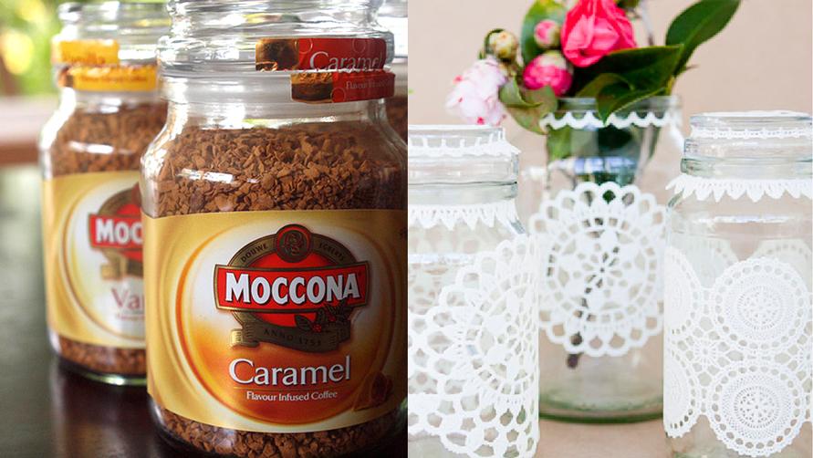 Reusing Moccona jars