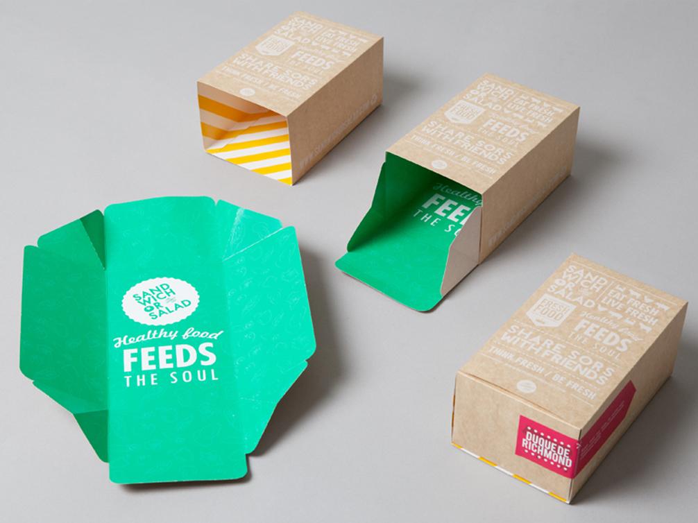 sandwich or salad packaging